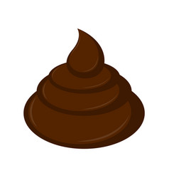 Isolated poop icon vector