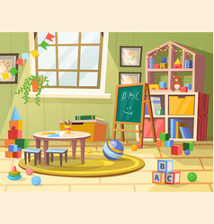kid or children child boy room for play education vector image