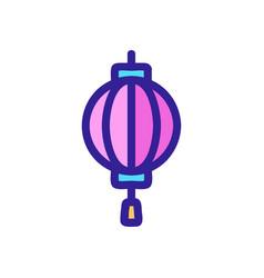 Lantern sky icon isolated contour symbol vector