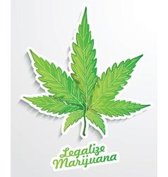 Legalise marijuana poster vector