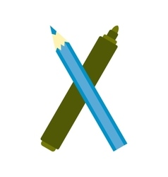 Marker pen and pen icon vector
