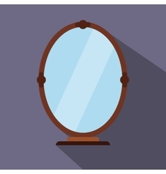 Mirror flat icon vector
