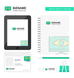 Monitor business logo tab app diary pvc employee vector