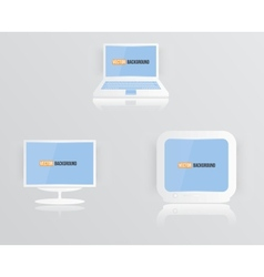 Monitor icon blue 010413 vector