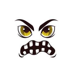 Monster face cartoon icon creepy ghost vector
