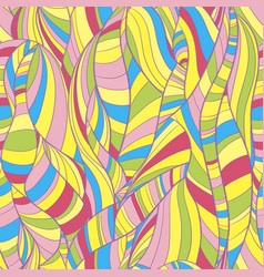 multicolored seamless background lines and waves vector image