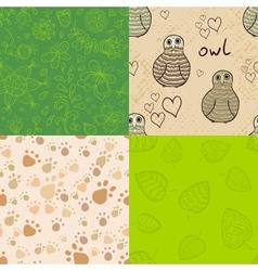Natural seamless patterns set vector image