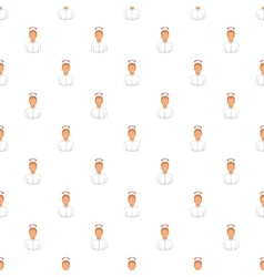 Nurse pattern cartoon style vector image