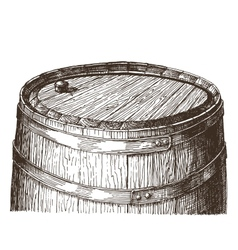 oak barrel logo design template wine or vector image