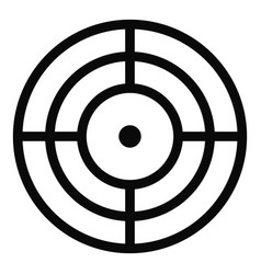 Objective of target icon simple style vector