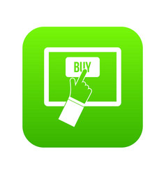 online shopping icon digital green vector image