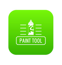 paint spray icon green vector image