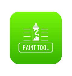 Paint spray icon green vector