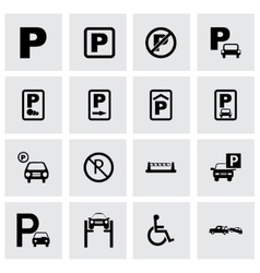 parking icon set vector image