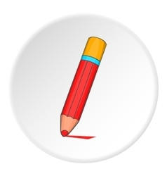 Pencil icon cartoon style vector image