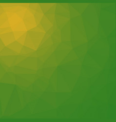 polygonal background in grassy green and lime vector image