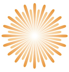 Radiating sun burst vector