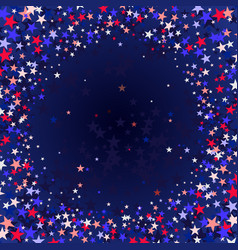 red blue stars flying stars confetti vector image