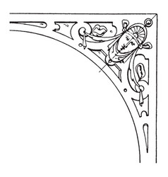 Renaissance spanrail panel is a strapwork design vector