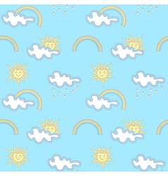Seamless weather pattern vector image