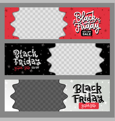 set black friday best sale horizontal layout vector image