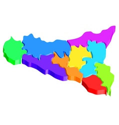 Sicily map vector