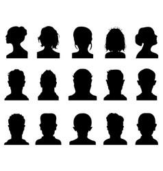 silhouettes avatar profile vector image