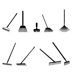 Silhouettes of rake vector