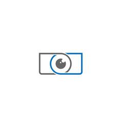 Simple camera photography logo design template vector