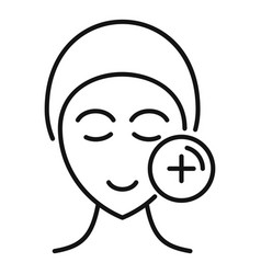 Skin treatment icon outline style vector