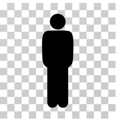 Standing man icon vector