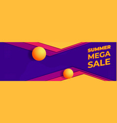 Summer sale concept banner design vector