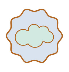 Symbol nice cloud sky icon vector