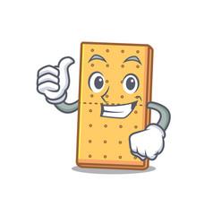 thumbs up graham cookies character cartoon vector image