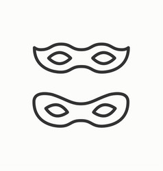 Traditional venetian festive carnival icon party vector