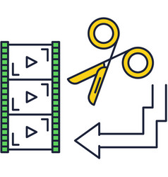 Video film production cutter app icon vector