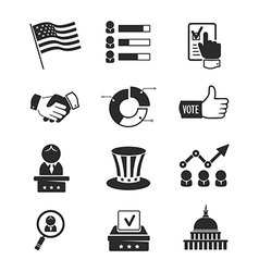 Voting and elections icon set vector image