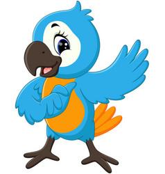 cartoon cute parrot vector image