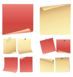 Set of colorful note paper vector image vector image
