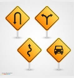 set road sign vector image