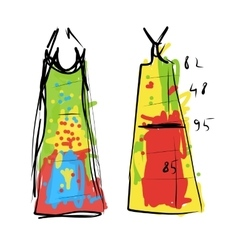Sewing dress sketch for your design vector image vector image