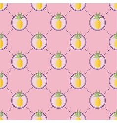 Summer pineapple pattern vector image vector image