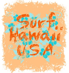surf hawaii vector image vector image
