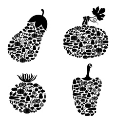 vegetables on vegetables vector image vector image