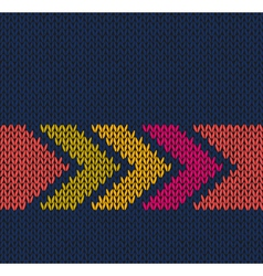 Arrow Color Knitted Pattern vector image vector image