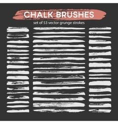 Big set of chalk brushes vector image