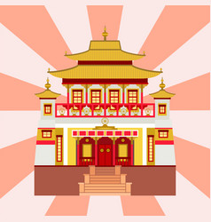 cathedral chinese church temple traditional vector image vector image