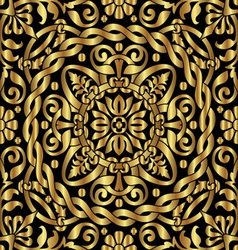 gold asian ornament vector image vector image