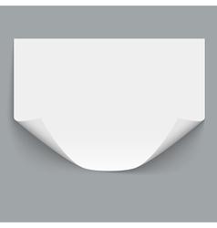 Horizontal empty paper sheet vector image vector image