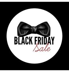 Black friday sale black round tag vector